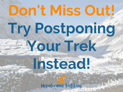 Don't Cancel Your Trip - Postpone Instead!