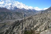 Stunning views on the trail to Upper Pisang, Annapurna Circuit
