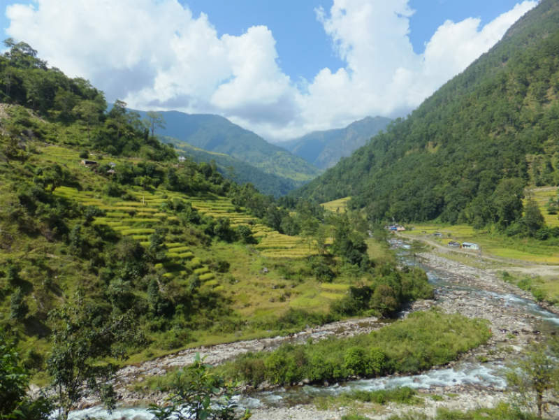 Create a walking plan to walk in the lowlands of the Annapurna region