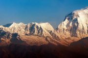 Morning panoramic view of Mount Dhaulagiri from Poon Hill.