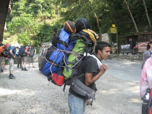Porters in Nepal - Krishna