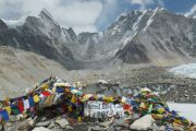 Tibetan Prayer flags at Everest Base Camp
