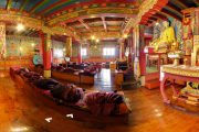 A look inside the Tibetan Buddhist monastery at Tengboche, Everest View trek
