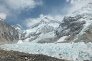 The Khumbu Glacier from Everest Base Camp