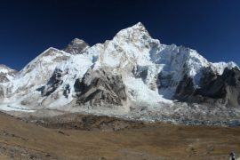 Everest Base Camp Trek with view of Everest, Lhotse and Nuptse from Kala Patthar