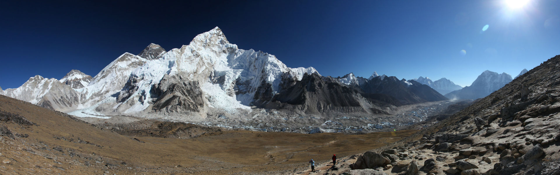 Everest Base Camp Trek with panoramic view of Everest, Lhotse and Nuptse from Kala Patthar