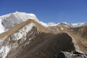 Langtang Valley Trek in Nepal: View from Kyanjin-Ri
