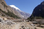 Langtang Valley Trek in Nepal: Earthquake debris