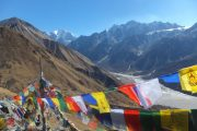 Langtang Valley Trek in Nepal: View from Kyanjin-Ri
