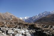 Langtang Valley Trek in Nepal: River running through the valley