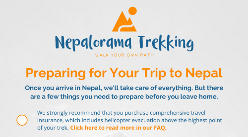 Once You've Followed our Payment Process, We'll Send you Information for Your Trek