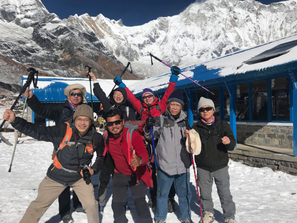 You can get fit to trek Nepal! Clients aged 66 at Annapurna Base Camp!