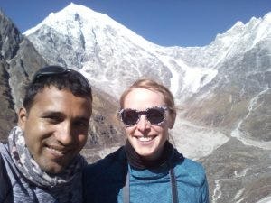Krishna and Anna - Team Nepalorama together in Nepal