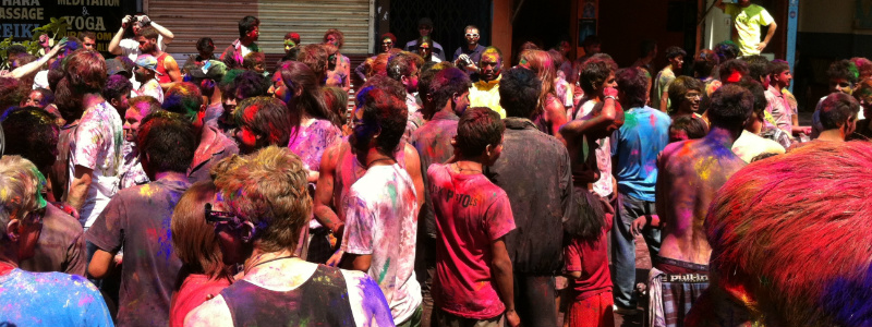 Festival of Holi in Pokhara