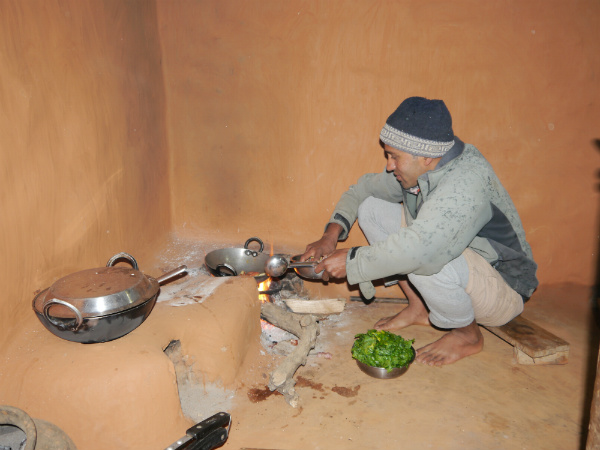 Krishna Preparing Dinner at Home