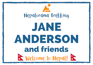 Look for this sign when you arrive in Kathmandu