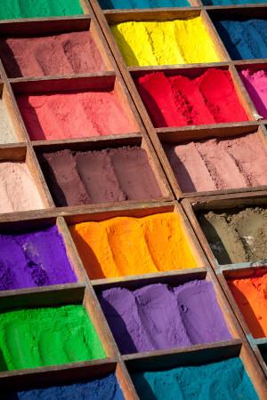 Holi Festival in Nepal - Coloured Powders