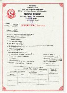 Nepalorama Trekking Business License