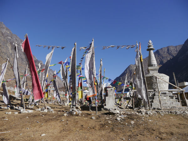Trekking in the Langtang region: Memorial to those who died in the Langtang earthquake, 2015