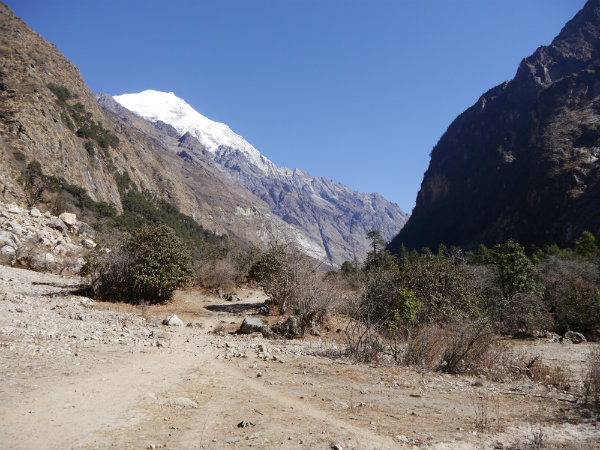 Create a walking plan to walk in the Langtang Valley