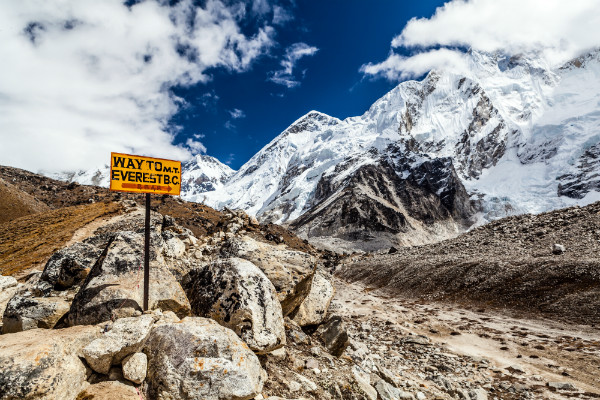 Sigh Post for Mount Everest Base Camp