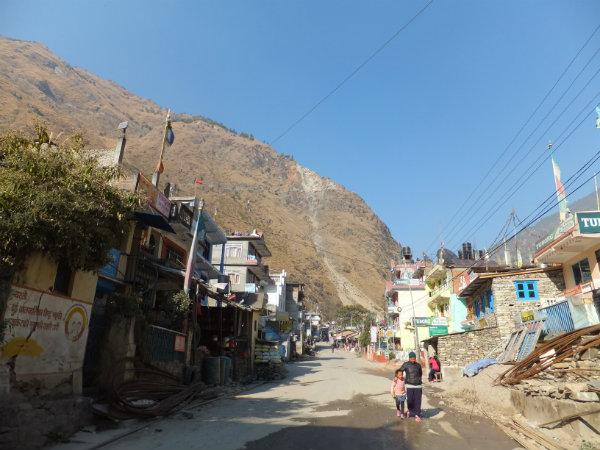 Syabrubesi, starting point for Langtang Valley trek