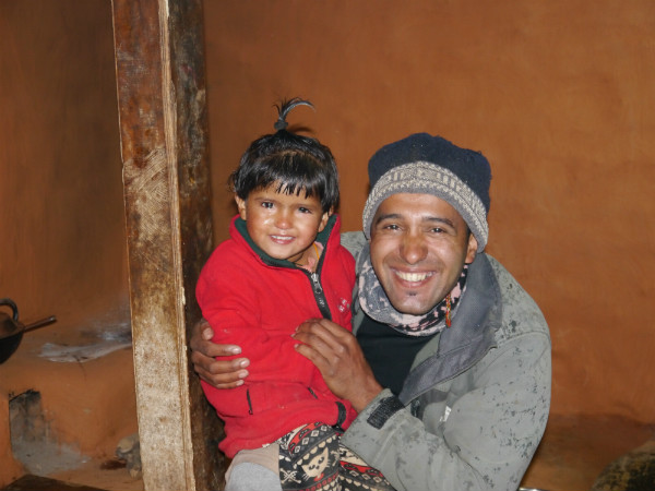 The Best Trekking Guide in Nepal: Krishna with his Daughter
