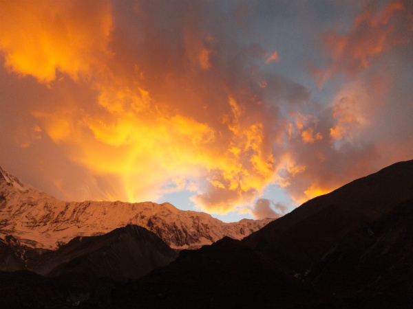 Spectacular Sunset near Tilicho Lake