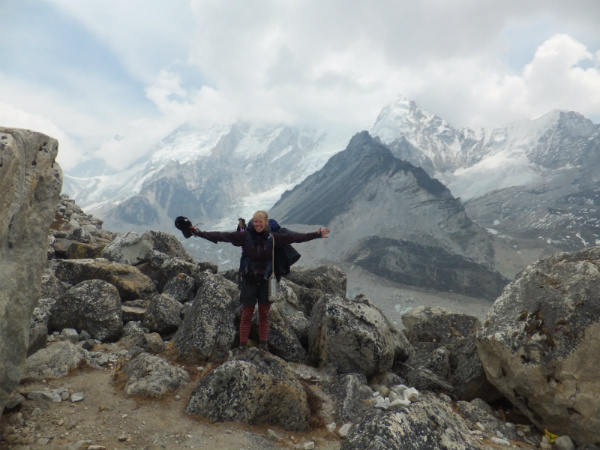 View Point Between Lobuche and Gorak Shep, Everest - with Anna from Team Nepalorama