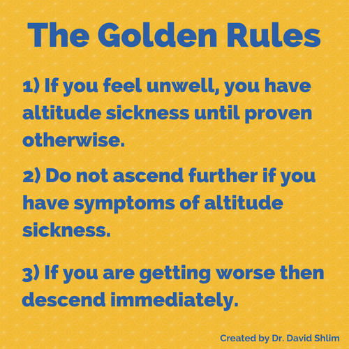 The Golden Rules of Altitude Sickness