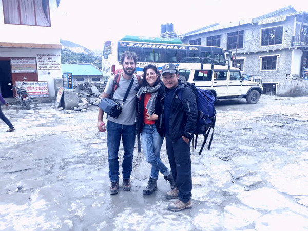 Trusted Nepal Trekking Guide Bibek with Well Prepared Clients