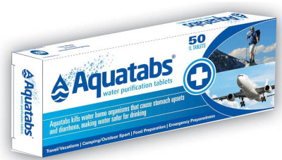 Buy or hire trekking equipment in Nepal: Aquatabs Water Purification Tablets