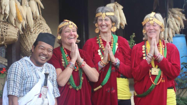 Professional Trekking Guide in Nepal - Buddhi sharing Nepali culture